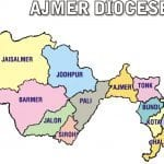 Map of Ajmer Diocese